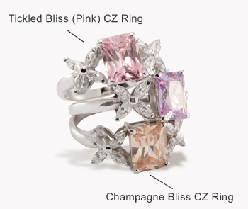 Click for Champagne Color CZ Ring