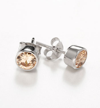 Divine Solitaire CZ Earrings