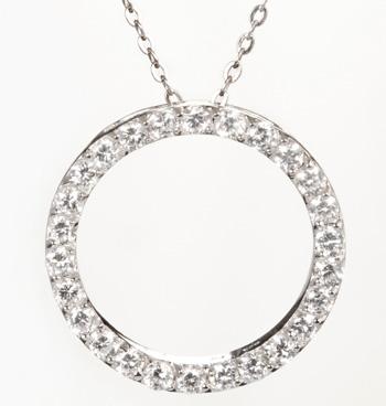 Circle cubic zirconia pendant aloadofball Image collections